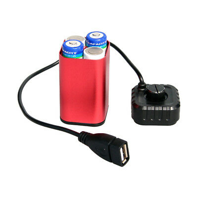 4x AA Water-proof Battery Pack Case House Cover USB Cable For Bicycle Bike Lamp
