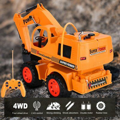 Wireless Stunt Remote Control 5 Channel Engineering Vehicle Electric Excavator X