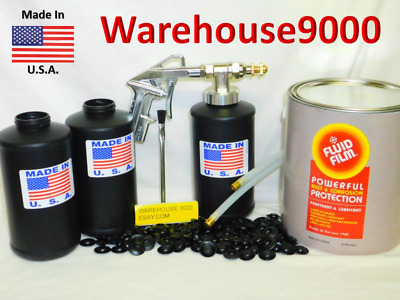Fluid  Film Pro Undercoat Kit & 200 Rust Plugs,  Ships Same Day, Priority Mail
