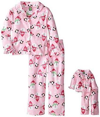 "Dollie & Me NWT Pink Snowman Penguin Pajamas Set 18"" Girl Doll American 6 7 8 10"