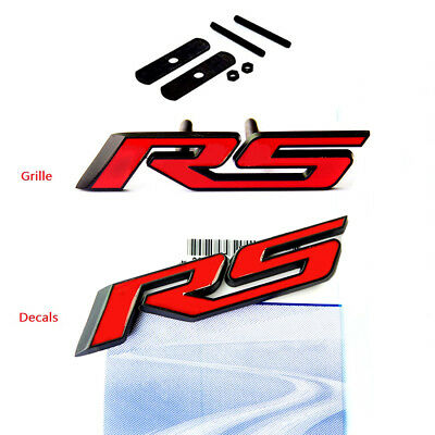 1x Red OEM RS Grille Emblem Badge 3D For Camaro Chevy GM series NEW YU