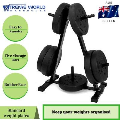 Gym A-Frame Holder Weight Plates Storage Rack Free Weights Stand