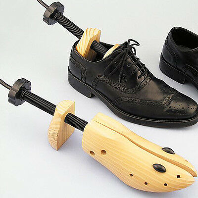 Unisex Wooden 2-Way Shoes Stretcher Adjustable Shoe Boot Tree Shaper with 3 Size