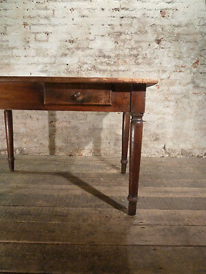Rare French 19th Century Walnut Table/Desk 2 Drawers Antique Vintage