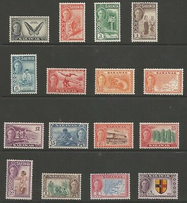 Sarawak Sg171-85 The 1950 Gvi Set Of 15 Fresh Mnh Cat £121+