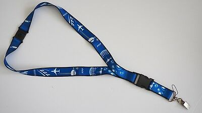 <Boeing Licensed Product> Boeing 777 Aircraft ID lanyard key holder neck strap