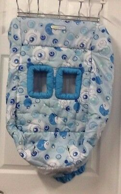 Bright Starts Baby Shopping Cart Cover Comfort & Harmony Blue