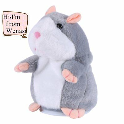 Talking Hamster Plush Toy Sound Record Repeats What You Say Toys Gift for Kids