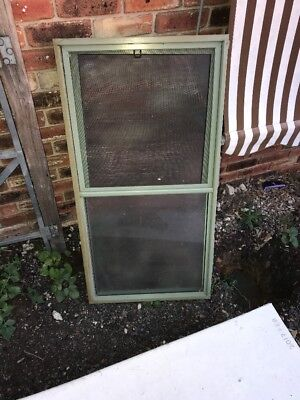 Aluminium Window Frosted Green Frame Slider 1200 X 600 Approx