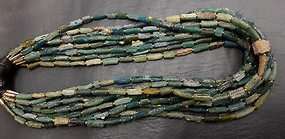 RARE! 10 ANCIENT Roman Glass Beads Necklaces With Old Carnelian Beads