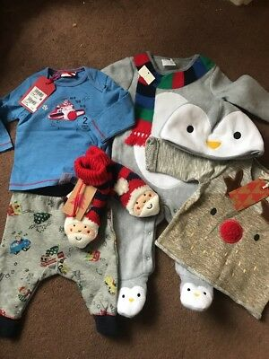 Next, F&F Baby Boys Christmas Clothes Brand New With Tags 0-3 Months