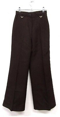 "VINTAGE RETRO ORIGINAL 70s ST MICHAEL BROWN FLARED TROUSERS  W24"" L30"" SIZE 6"