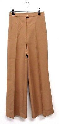 "VINTAGE RETRO ORIGINAL 70s ST MICHAEL NUDE FLARED TROUSERS  W24"" L30"" SIZE 6"