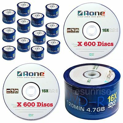 600 Aone 16x Non Printable Logo Branded Blank dvd-r Wholesale Bulk joblot