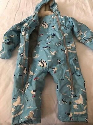 Baby Boden Sherpa Lined Snow Suit with Penguin Motif 18-24 months
