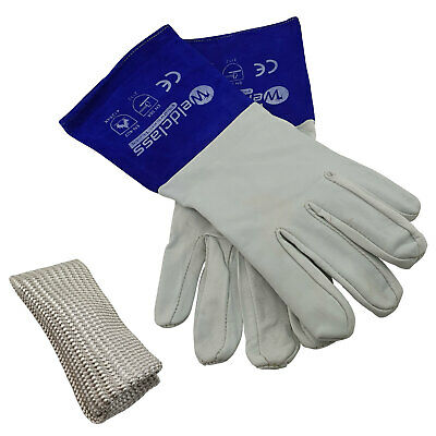 Weldclass Platinum Soft Skin TIG Welders Gloves TIG finger Value combo USA MADE