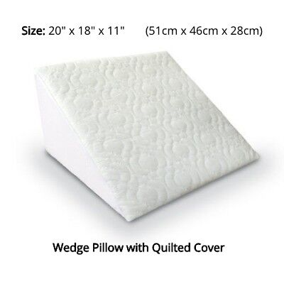 Orthopaedic Bed Wedge Pillow Support Flex Foam with Quilted Cover Back Legs Neck