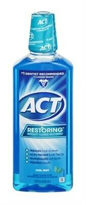 NEW Act Restoring Mouthwash, Cool Splash Mint - 18 Ounce (Pack Of 12)