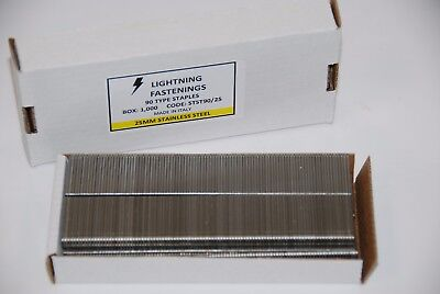 Lightning Fastenings 90 Type Staples Stainless Steel 18 20 25 32mm Box of 1000