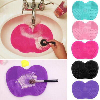 Silicone Makeup Brush Cleaner Pad Washing Scrubber Board Cleaning Mat Tool Prope