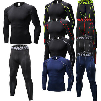 Men's Compression Activewear Base Layers Dri-fit Running Tights Quick-dry Pants