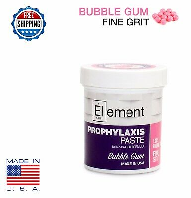 FINE GRIT BUBBLE GUM ELEMENT PROPHY PASTE DENTAL PROPHYLAXIS - 170g (6 oz) Jar