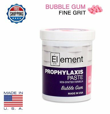 FINE GRIT BUBBLE GUM ELEMENT PROPHY PASTE DENTAL PROPHYLAXIS - 340g (12oz) Jar