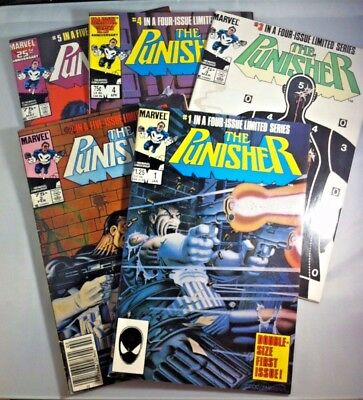 The PUNISHER  5 Issue Limited Series 1986  Mike Zeck Art