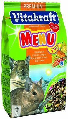 VITAKRAFT DEGU 600g BAG COMPLETE FOOD FEED DIET 25143