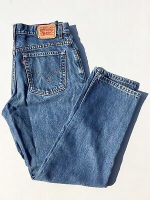 Vintage Levi's Jeans 550 Relaxed Fit Tapered Leg Stonewash Denim Women's 14 M
