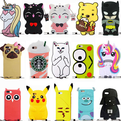 For iPhone iPod Touch 5 / 6 Gen Cartoon Cute 3D Soft Silicone Phone Case Covers