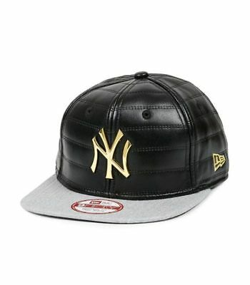 Casquette Snapback New Era NY Quilted Crown Noir-gris
