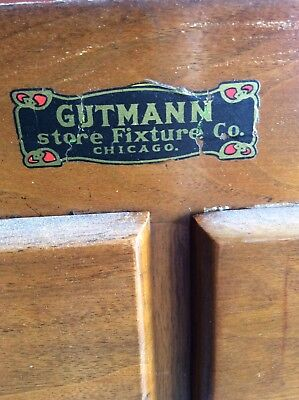 Antique Gutmann Apothecary Pharmacy Cabinet Showcase Bar Back General Store 13'