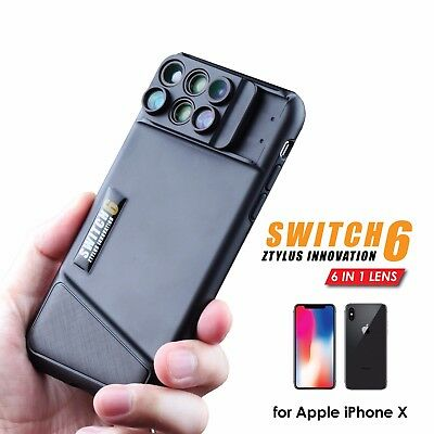 Ztylus Switch 6 Kit for Apple iPhone X: Double Layer, 6-in-1 Dual Optics Lens