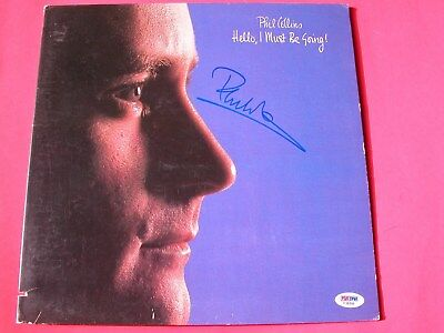 Phil Collins Signed Auto Hello, I Must be Going ! Album LP Record Cover  PSA/DNA