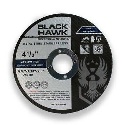"""50 Pack 4-1/2"""" x 1/16"""" x 7/8"""" Cut-Off Wheels Metal Stainless Steel Cutting Discs"""