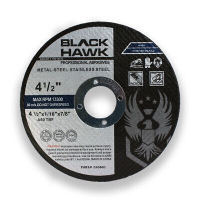 """100 Pack 4-1/2"""" x 1/16"""" x 7/8"""" Cut-Off Wheels Metal Stainless Steel Cutting Disc"""