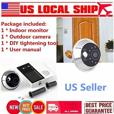 "2.4"" TFT LCD Screen Video Camera Door Phone Intercom Home Security Doorbell VDC"