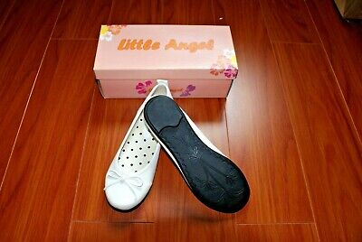 #A50C NEW GIRL Comfy SLIP-ON SHOES White 6-10 Years Old Sz 1/2/3/4,Wedding/Party