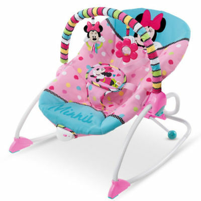 Disney Minnie Mouse Peekaboo INFANT To TODDLER ROCKER BABY BOUNCER SEAT PINK