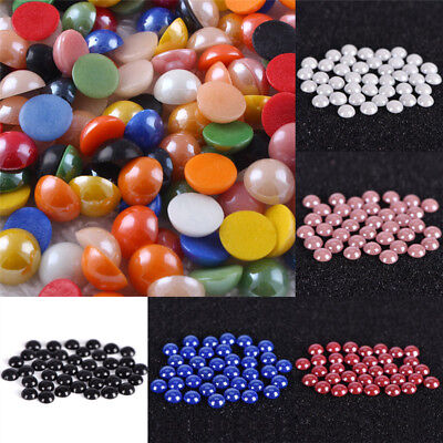 Mixed Flat Back Pearls Rhinestones Embellishments Face Gems Craft Card DIY Pip