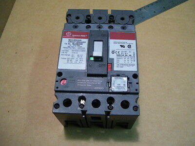 GE SELA36A10030 SPECTRA RMS 30 Amp 600V 3POLE WITH 15A TRIP CIRCUIT BREAKER 0114