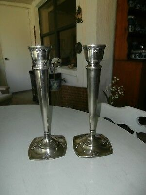 "RARE MONUMENTAL PAIR INTERNATIONAL STERLING SILVER ""TRIANON"" CANDLESTICKS 895 gm"