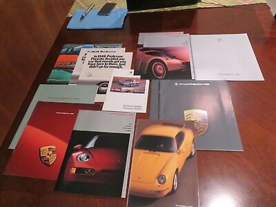 15 Lot of Porsche Factory Sales Brochures