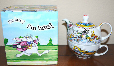 Paul Cardew Alice in Wonderland 'Tea For One' Tea Pot Cup SET new in box