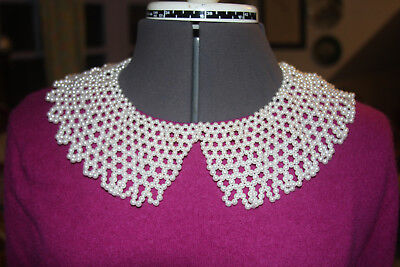 "18"" Pearl Beaded Collar - ACCESSORY - NECKLACE - BRIDAL (100)"