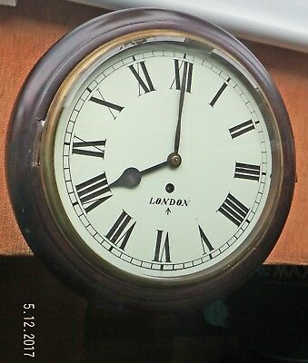 LATE 20th CENTURY VICTORIAN STYLE REPRODUCTION WALL CLOCK WITH FUSEE MOVEMENT
