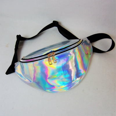 Waist Packs By Mounchain Women's Shiny Laser Holographic Waist Fanny Packs with