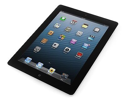 Apple iPad 4th Gen Retina 16GB, Wi-Fi + Cellular (Unlocked), 9.7in Black A Grade