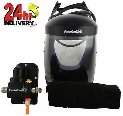 Devilbiss Finishline Vizi 60 Air Fed Mask Full Face Class 3 Respirator For Paint